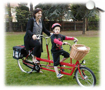 Tandem - with a child in the front seat!